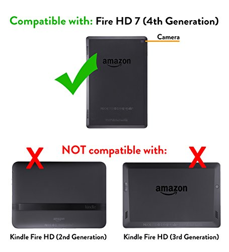 Standing Protective Case for Fire HD 7 4th Generation Black