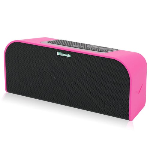 klipsch kmc 1 pink portable speaker with bluetooth pink erics electronics. Black Bedroom Furniture Sets. Home Design Ideas
