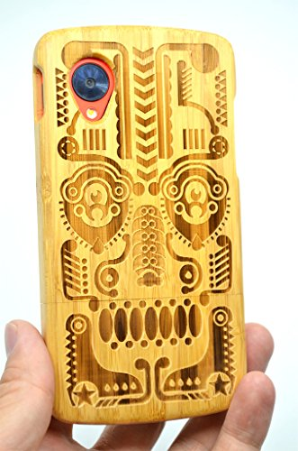 LG-Google-Nexus-5-Wood-Case-Bamboo-Totem-Premium-Quality-Natural-Wooden-Case-for-your-Smartphone-and-Tablet-by-VolksRoseTM-0-2