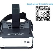 SUNNYPEAK-Plastic-Google-Cardboard-3D-VR-Virtual-Reality-Glasses-with-Adjustable-Focal-Distance-Pupil-Distance-for-iPhone-Samsung-Nexus-HTC-Moto-LG-Mobile-Smartphone-with-QR-Code-Blackwith-Magnet-0-0