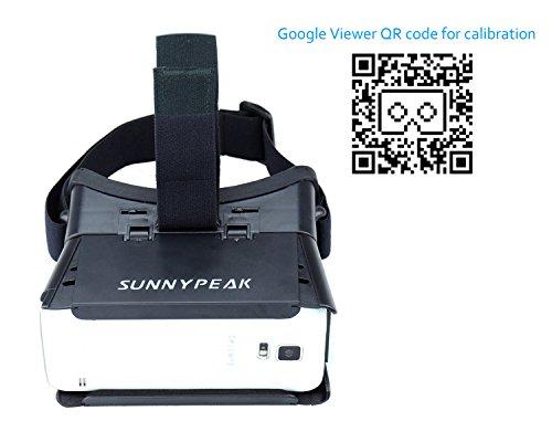 sunnypeak plastic google cardboard 3d vr virtual reality glasses with adjustable focal distance. Black Bedroom Furniture Sets. Home Design Ideas