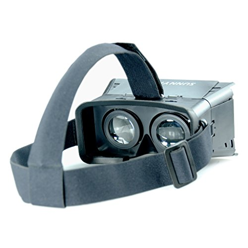 SUNNYPEAK-Plastic-Google-Cardboard-3D-VR-Virtual-Reality-Glasses-with-Adjustable-Focal-Distance-Pupil-Distance-for-iPhone-Samsung-Nexus-HTC-Moto-LG-Mobile-Smartphone-with-QR-Code-Blackwith-Magnet-0-1