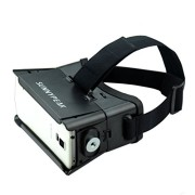 SUNNYPEAK-Plastic-Google-Cardboard-3D-VR-Virtual-Reality-Glasses-with-Adjustable-Focal-Distance-Pupil-Distance-for-iPhone-Samsung-Nexus-HTC-Moto-LG-Mobile-Smartphone-with-QR-Code-Blackwith-Magnet-0