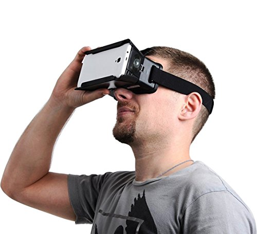 SUNNYPEAK-Plastic-Google-Cardboard-3D-VR-Virtual-Reality-Glasses-with-Adjustable-Focal-Distance-Pupil-Distance-for-iPhone-Samsung-Nexus-HTC-Moto-LG-Mobile-Smartphone-with-QR-Code-Blackwith-Magnet-0-6