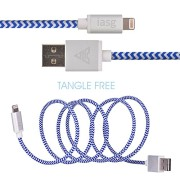 Apple-MFi-certified-iasg-cotton-braided-lightning-cable-with-reversible-USB-for-iPhone5s-6-6s-6-plus-iPad-Pro-Air2-Air-mini4-2-iPod-touch-5th-generationiPod-nano-7th-gen-33feet1meter-white-and-blue-0-0