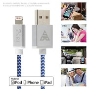 Apple-MFi-certified-iasg-cotton-braided-lightning-cable-with-reversible-USB-for-iPhone5s-6-6s-6-plus-iPad-Pro-Air2-Air-mini4-2-iPod-touch-5th-generationiPod-nano-7th-gen-33feet1meter-white-and-blue-0-4