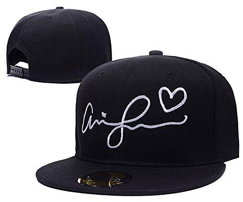 078239e0b1b JRICK Ariana Grande Signature Logo Adjustable Snapback Caps ...