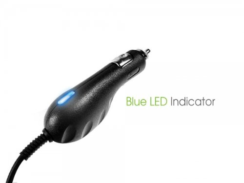 Professional-Garmin-dezl-760LMT-GPS-BLUE-LED-Car-Charger-with-digital-rapid-and-slow-charge-features-Black-1A-0-1